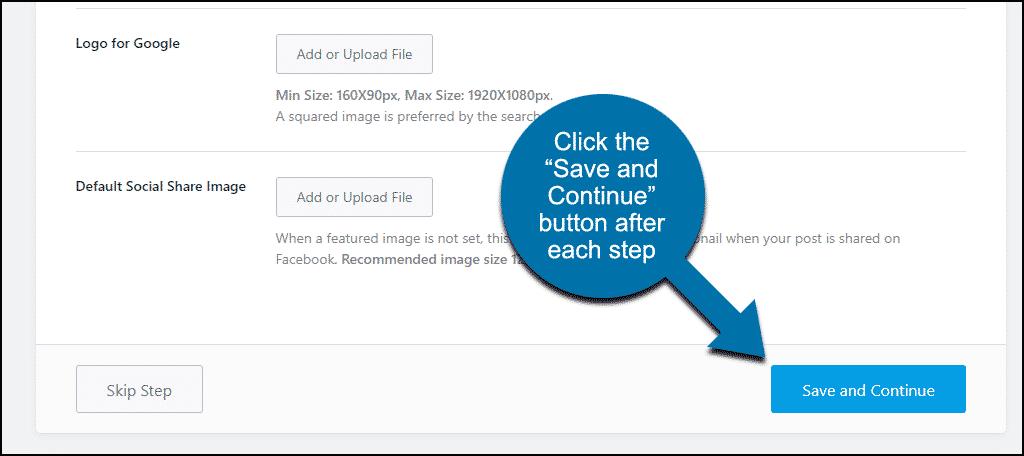 """Plugin Rank Math WordPress klik tombol """"Simpan dan Lanjutkan"""""""